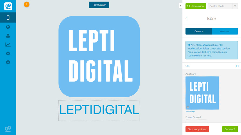 icone application leptidigital