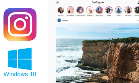 instagram tablette windows 10