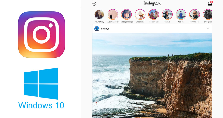 instagram tablette windows 10