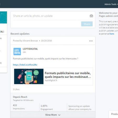 Nouveau design des pages LinkedIn : quels changements ?