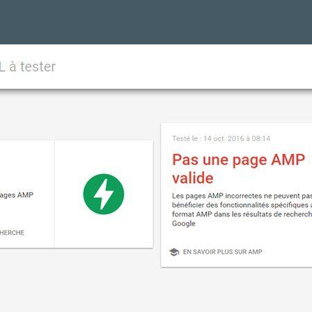 Google : un nouvel outil pour tester ses pages AMP !