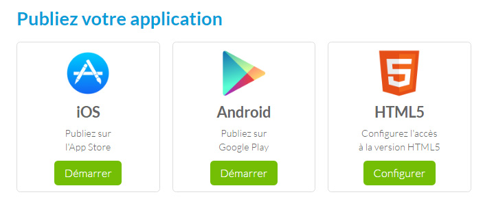 publier application stores