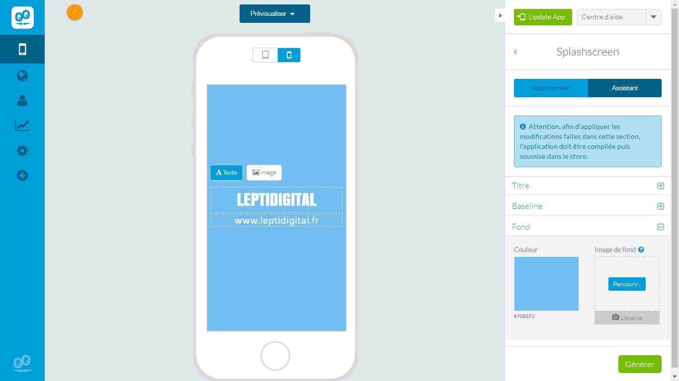 splashscreen application leptidigital
