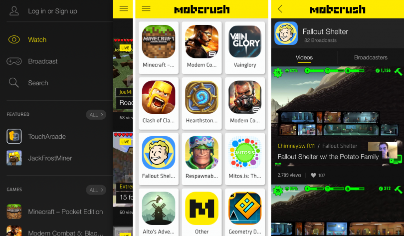 application mobcrush