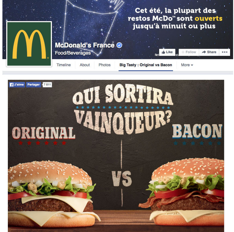 campagne versus qualifio mc donalds
