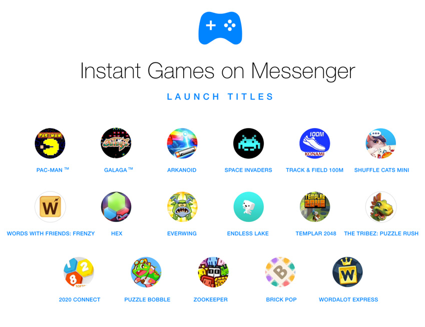 instant games messenger facebook