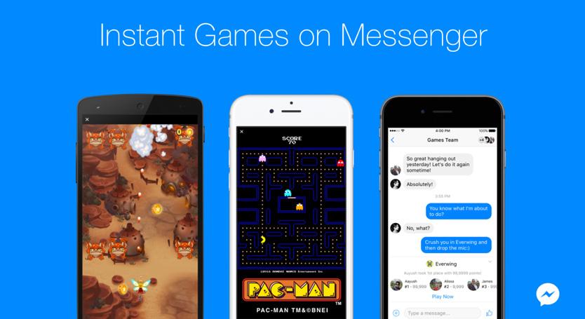 jouer jeux facebook messenger