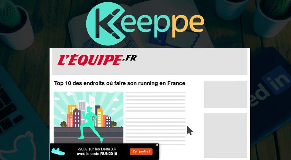Keeppe, un outil pour ajouter une bannière d'auto-promo sur n'importe quel site !