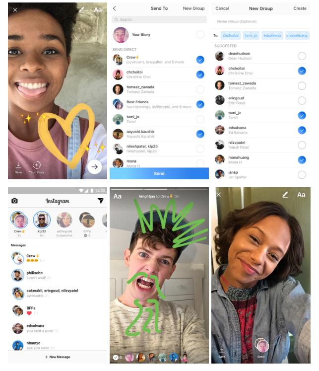 messages éphémères instagram