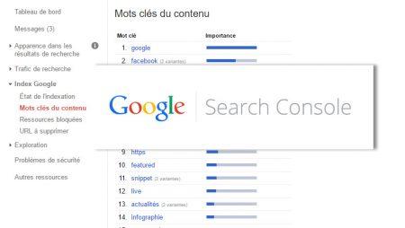Le rapport «Mots clés de contenu» va disparaitre de Search Console !