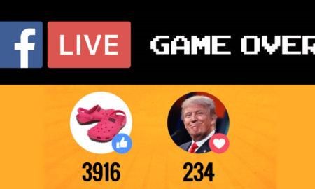 sondage live réactions Facebook