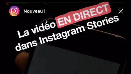 Les vidéos en direct Instagram sont disponibles en France !