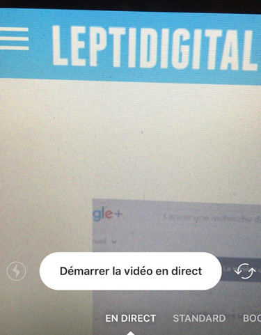 video en direct instagram