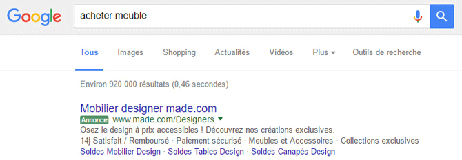 ancien label vert adwords
