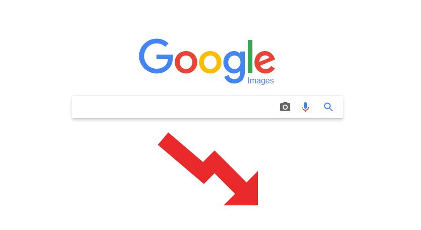 baisse trafic google images