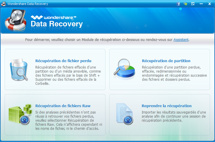 mode standard data recovery