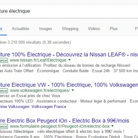Google Adwords : un label toujours plus discret pour les liens sponsorisés !