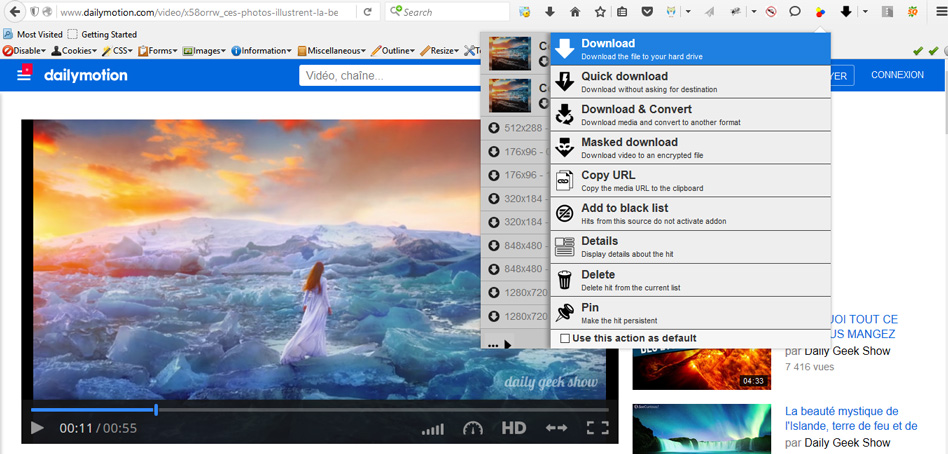 télécharger vidéo dailymotion download helper