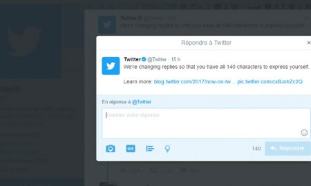 140 caractères réponses Twitter