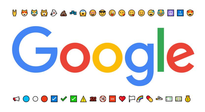 émoticônes Google