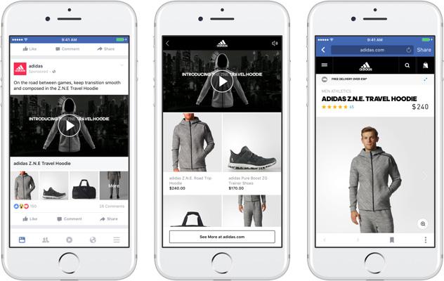facebook collection adidas