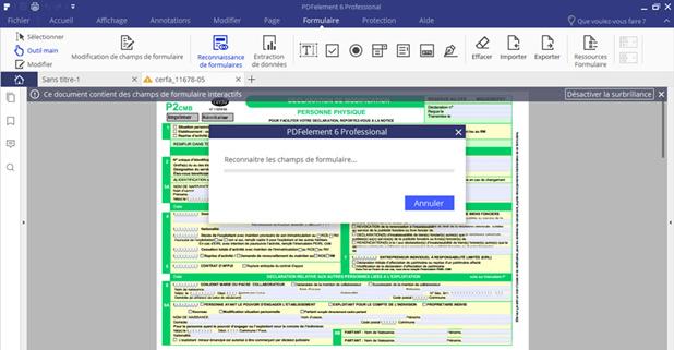 créer formulaire PDF déjà existant