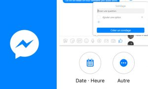 créer un sondage facebook messenger