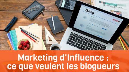 Marketing d'influence : les attentes des blogueurs envers les marques [Infographie]