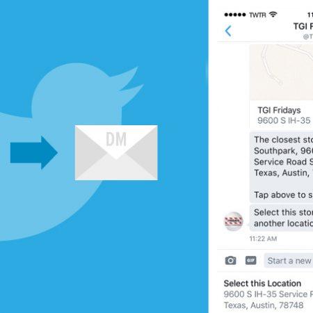 Nouveauté Twitter : le partage de localisation via message privé !