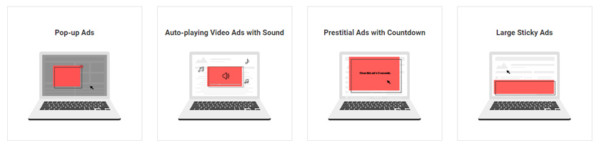 publicités bloquées desktop
