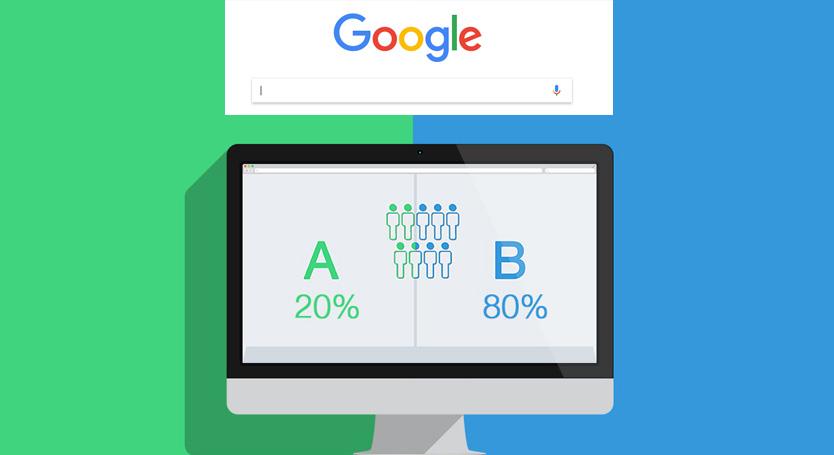 A B Testing Google