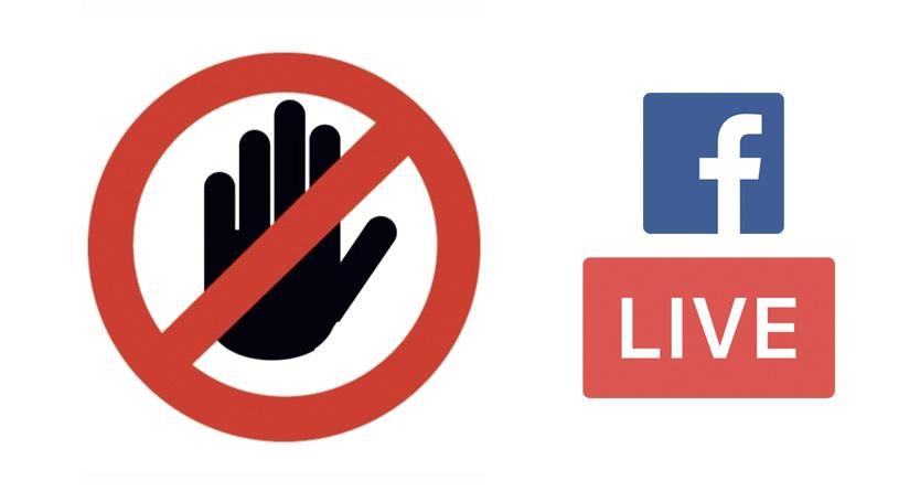 pénalisation faux facebook live