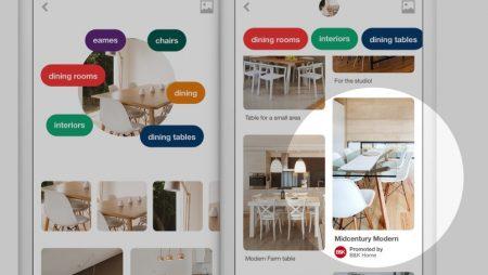 Nouveauté Pinterest : la reconnaissance d'image au service des publicités !
