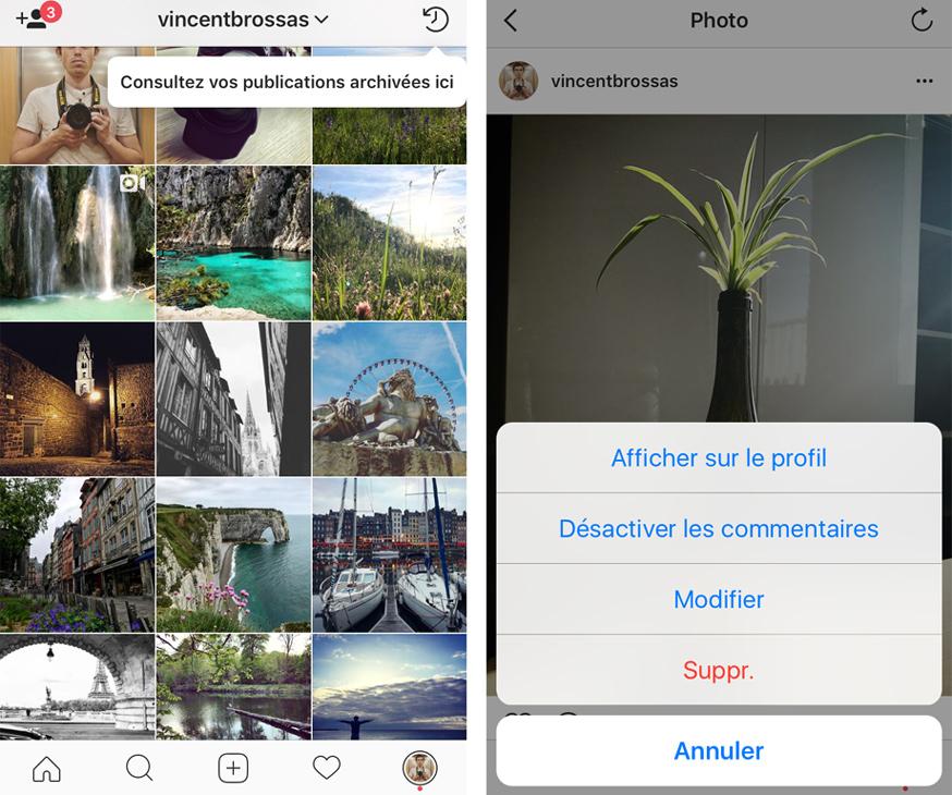 afficher photo instagram archive