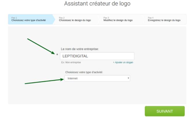 assistant créateur de logo logaster