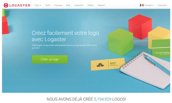 créer logo logaster