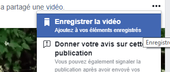 enregistrer video facebook