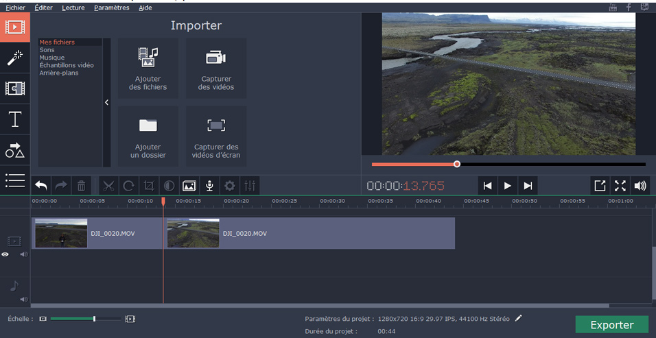 import videos Movavi