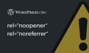 rel noopener noreferrer WordPress