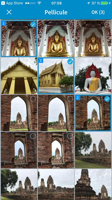 selection plusieurs photos