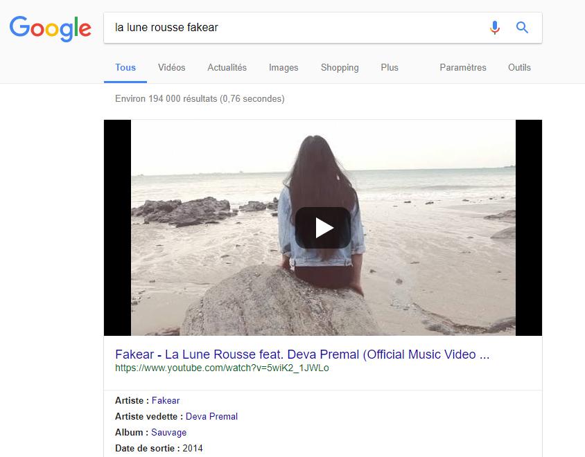 vidéo à la une Google
