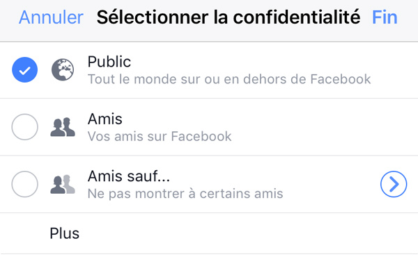 confidentialité facebook stories