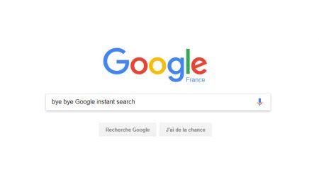 Google met fin à «Instant Search» !