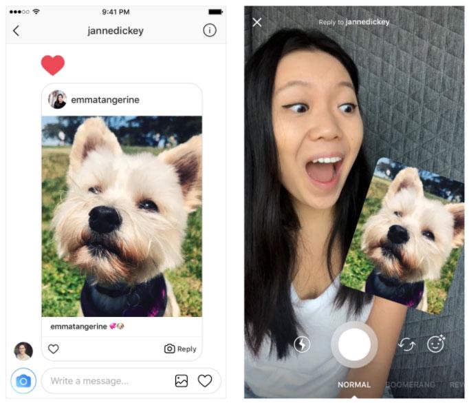 nouveauté réponse message privé instagram