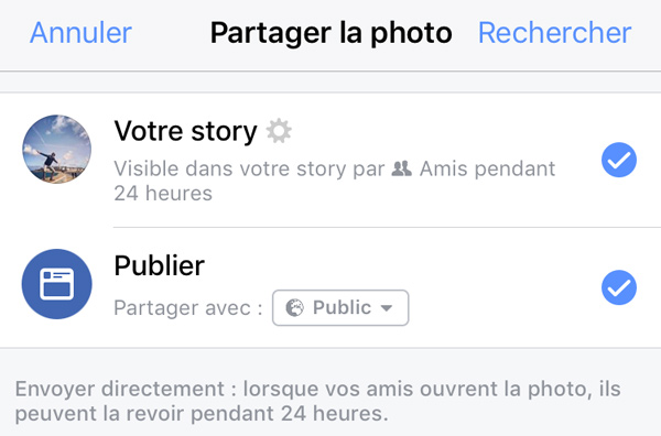 story publique facebook