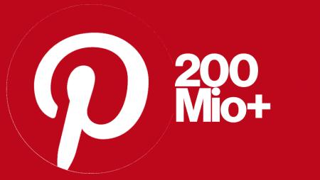 Pinterest passe la barre des 200 millions d'utilisateurs actifs mensuels et dévoile une nouveauté !