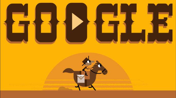 easter egg google cowboy pony express