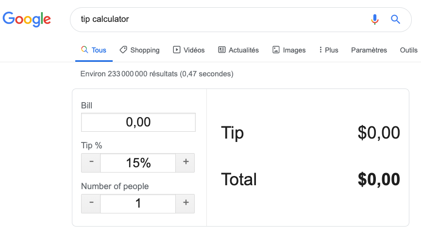 easter egg tip calculator google