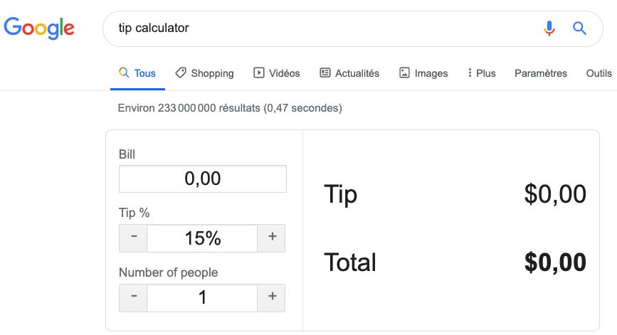 easter egg tip calculator google