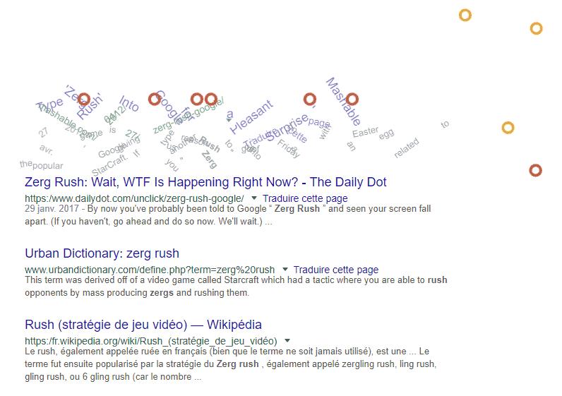 easter egg zerg rush google